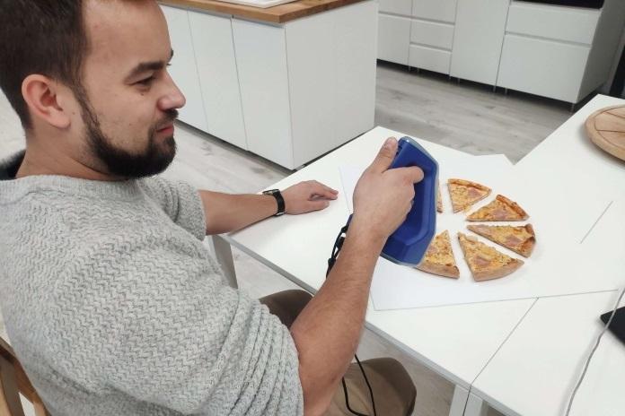 ESCANEADO DE PIZZAS DIRECTAMENTE DEL HORNO CON ARTEC SPACE SPIDER